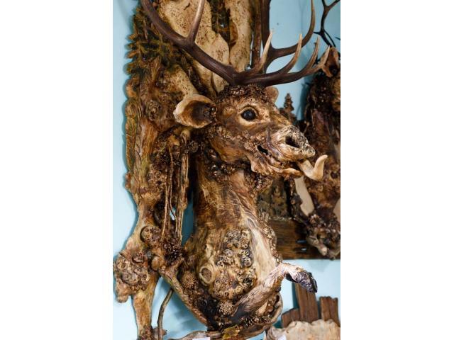 Оригинальное панно ручной работы Лесной олень - 1